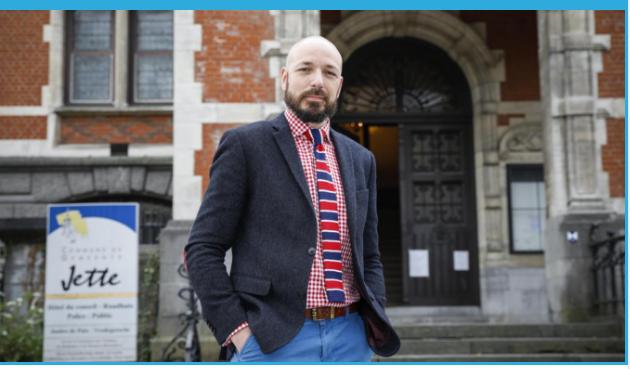 Xavier Van Cauter tête de liste du PS jettois se livre à la presse bruxelloise